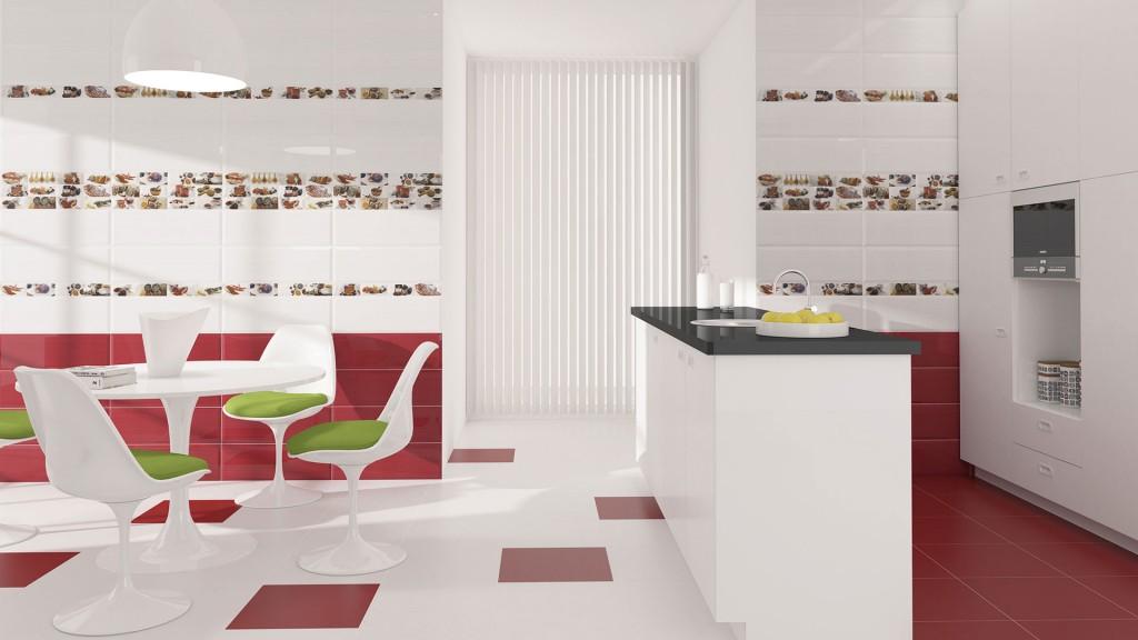 Diseño cerámico para cocina Palma Peperone por Noor Ceramics