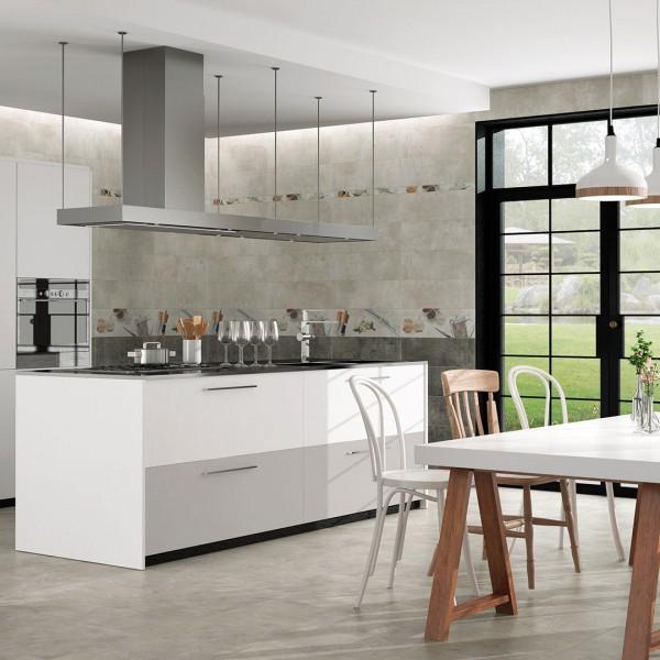Diseño cerámico cocina Valencia gris por Noor Ceramics