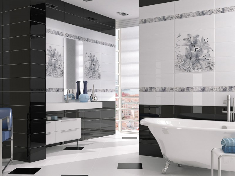 diseño cerámico baños modernos