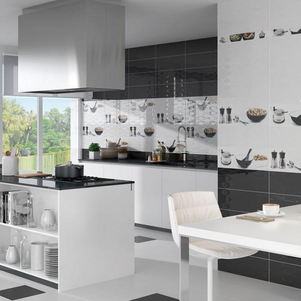 Revestimiento y pavimento cerámico en diseño de cocinas modernas