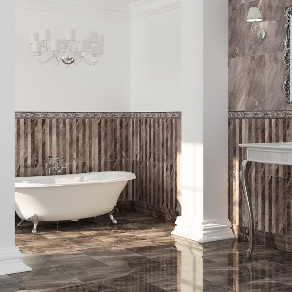 Diseño cerámico de baños Sicilia gris modernos Noorceramics