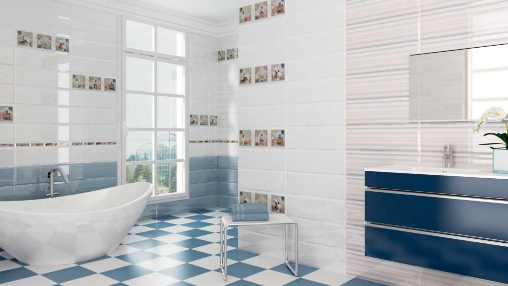 Diseño cerámico de baños modernos.